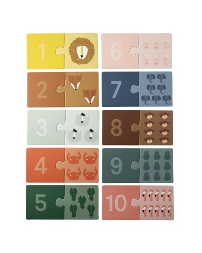 Counting puzzle animals